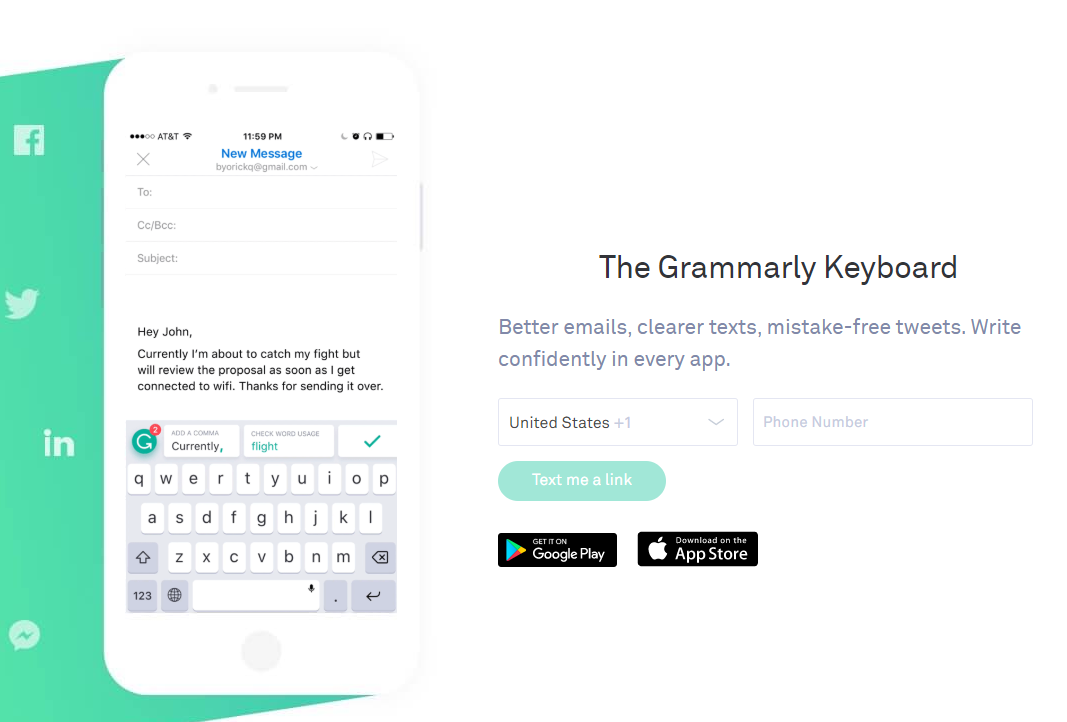 Grammarly Proofreading Software Official Website